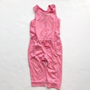 BabyGap heather pink  crop pant jumpsuit EUC 4T